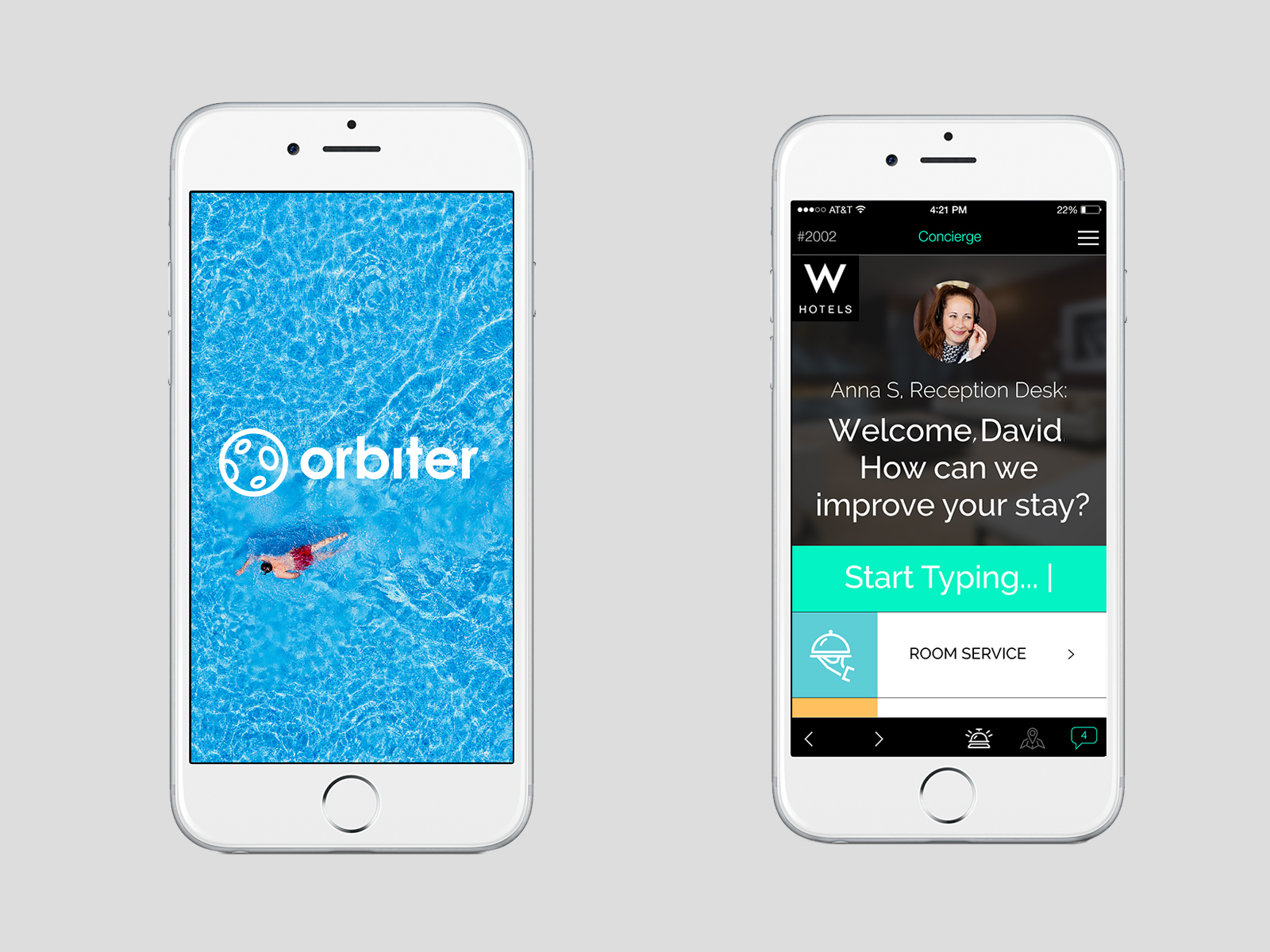 the orbiter app hoteliers app customizable